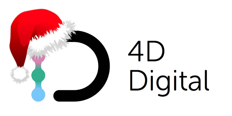4d Logo with Top Quality Santa Hat